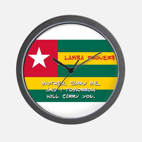 Mother Carry Me - Lamba Proverb Wall Clock