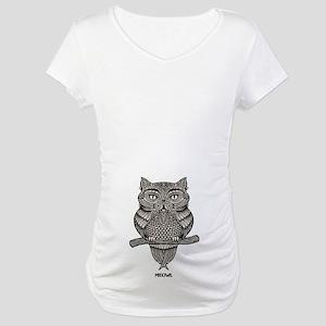 Meowl Maternity T-Shirt