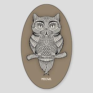 Meowl Sticker (Oval)