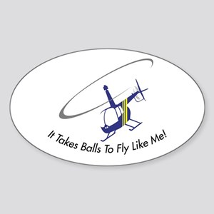 It Takes Balls Oval Sticker