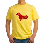 Dachshund continued (red) Yellow T-Shirt