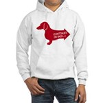 Dachshund (red) continued Hooded Sweatshirt