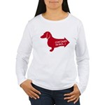 Dachshund (red) continued Women's Long Sleeve T-Sh
