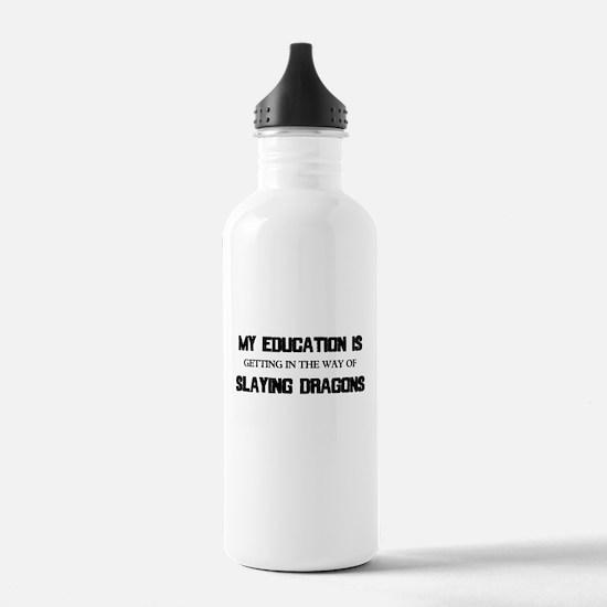 Slaying Dragons Water Bottle