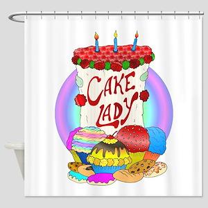 cakelady Shower Curtain