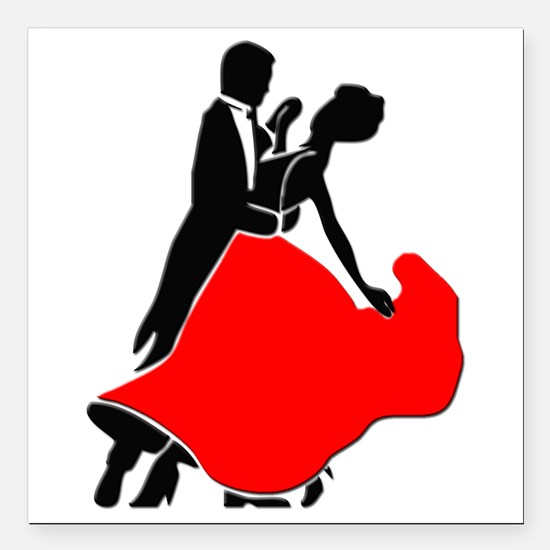 "Shall We Dance Square Car Magnet 3"" x 3"""