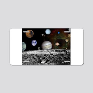 Solar System Montage Aluminum License Plate