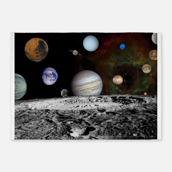 Solar System Montage 5'x7'Area Rug