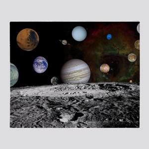 Solar System Montage Throw Blanket