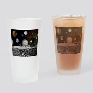 Solar System Montage Drinking Glass