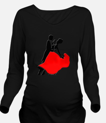 Shall We Dance Long Sleeve Maternity T-Shirt