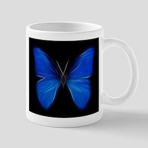Blue Butterfly Fractal Mugs