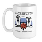 Dachshund bed warmers Large Mug