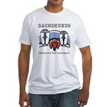 Dachshund bed warmers Fitted T-Shirt