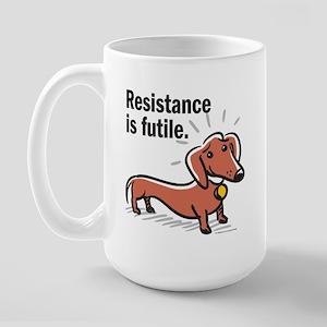 """Dachshund """"Resistance"""" Large Mug"""