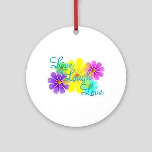 Live Laugh Love Ornament (Round)