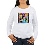 Colorful Fish & Cats Women's Long Sleeve T-Shirt