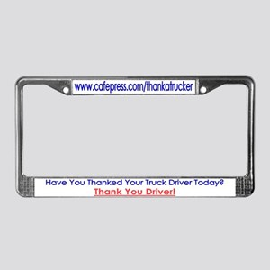 Thank A Trucker License Plate Frame
