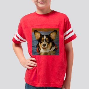 Cute Corgi Youth Football Shirt