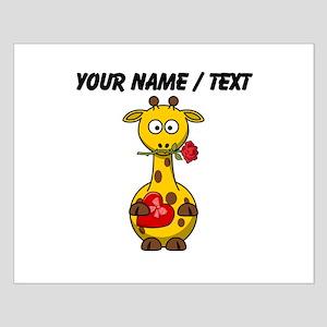Custom Valentine Giraffe Poster Design