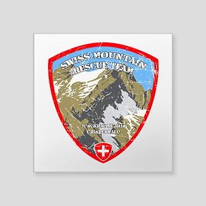 SWISS MOUNTAIN RESCUE-3-DISTRESSED Sticker