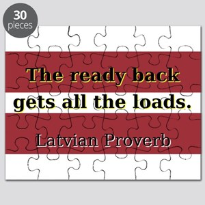 The Ready Back - Latvian Proverb Puzzle