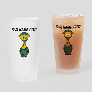 Custom Surgeon Giraffe Drinking Glass