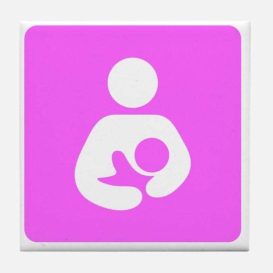 Breastfeeding Symbol [Pink] Tile Coaster