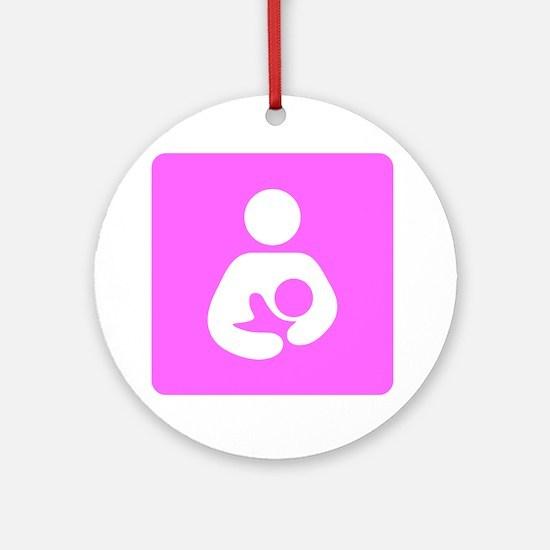 Breastfeeding Symbol [Pink] Round Ornament