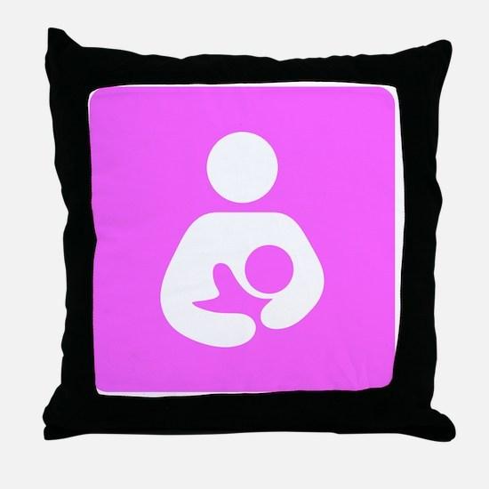 Breastfeeding Symbol [Pink] Throw Pillow