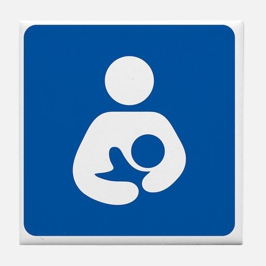 Breastfeeding Symbol [blue] Tile Coaster