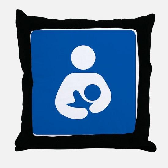 Breastfeeding Symbol [blue] Throw Pillow