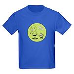 Martian Picnic Green Kids Dark T-Shirt