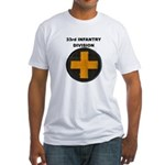 33RD INFANTRY DIVISION Fitted T-Shirt