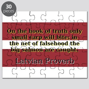 On The Hook Of Truth - Latvian Proverb Puzzle