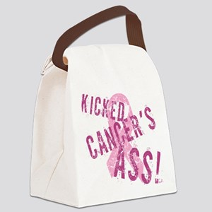 Kicked Cancer's Ass Canvas Lunch Bag