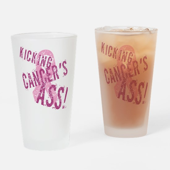 Kicking Cancer's Ass Drinking Glass