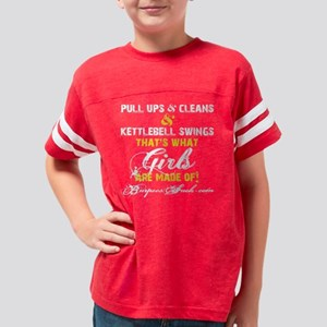 GIRLS ARE MADE OF - YELLOW Youth Football Shirt