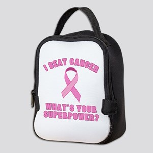 I Beat Cancer Superpower Neoprene Lunch Bag