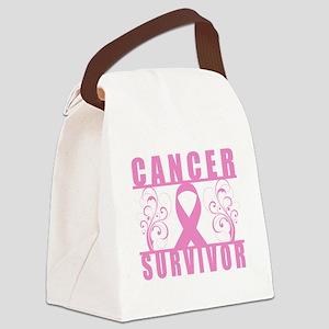 Cancer Survivor (Floral) Canvas Lunch Bag