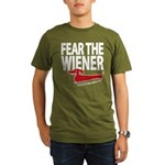 Fear the Wiener Organic Men's T-Shirt (dark)