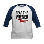 Fear the Wiener Kids Baseball Jersey