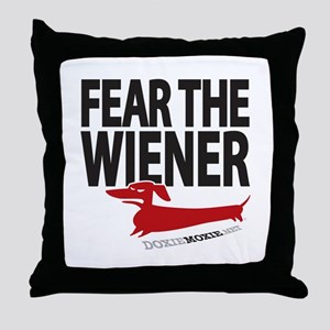 Fear the Wiener Throw Pillow
