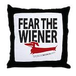 Fear the Wiener Throw Pillow