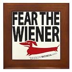 Fear the Wiener Framed Tile