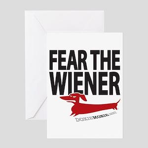 Fear the Wiener Greeting Card