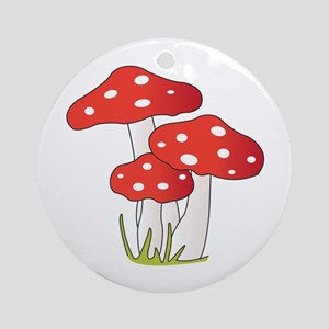 Polka Dot Mushrooms Ornament (Round)