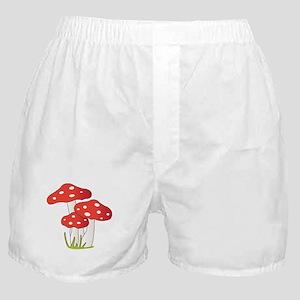 Polka Dot Mushrooms Boxer Shorts
