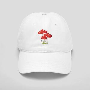 Polka Dot Mushrooms Baseball Cap