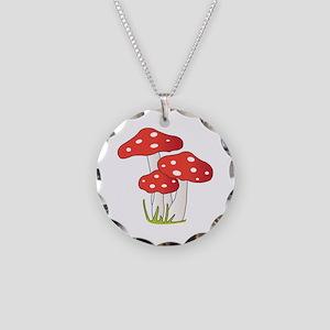 Polka Dot Mushrooms Necklace